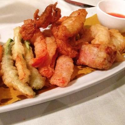 Agropoli mare e terra... bocconi di pesce e verdure in tempura