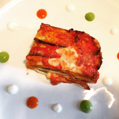 Parmigiana della tradizione con mozzarella di bufala